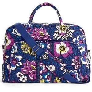 Vera Bradley African violet weekender bag